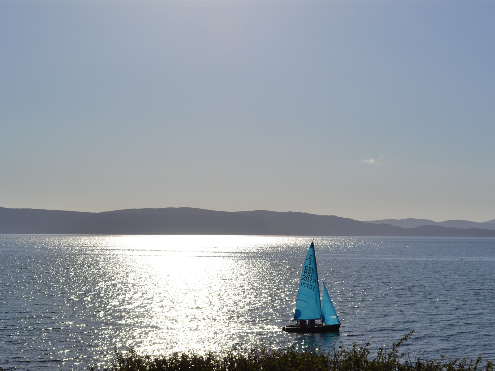 sailing in applecross bay